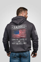 Men's Nine Line Get The Hell Out Hoodie #GTHO-H-CHARCOAL