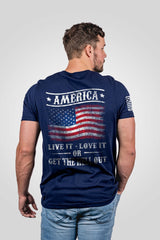 Men's Nine Line Get The Hell Out T-Shirt #GTHO-TUSA-MIDNIGHTNAVY