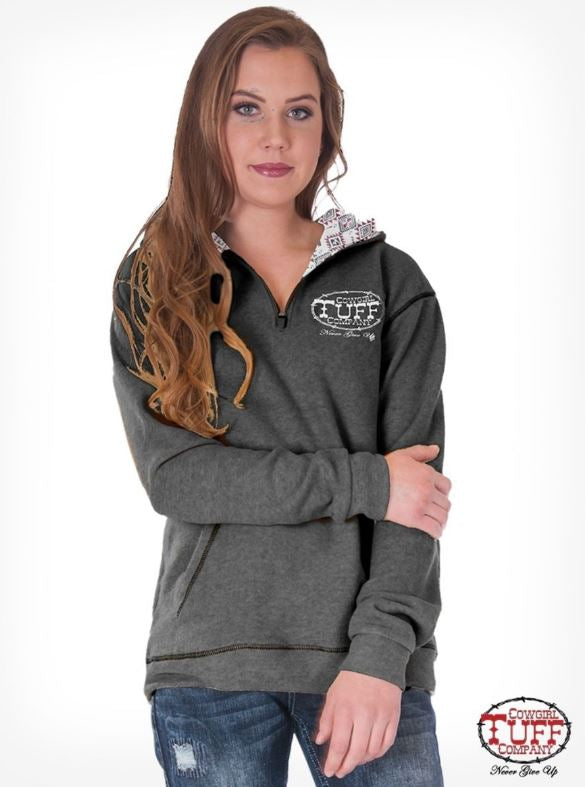 Women's Cowgirl Tuff Hoodie #H00637-GRY