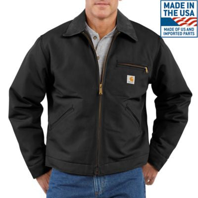 Men's Carhartt Blanket Lined Duck Detroit Jacket #J001BLK