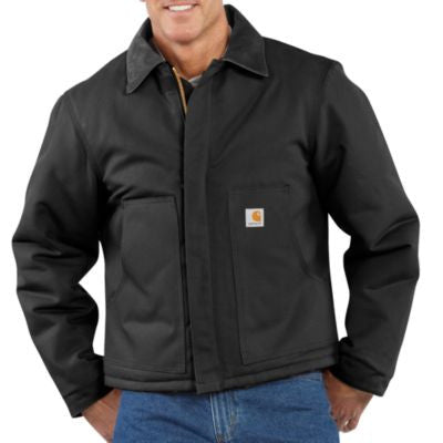 Men's Carhartt Duck Traditional Jacket #J002BLK (Big and Tall)