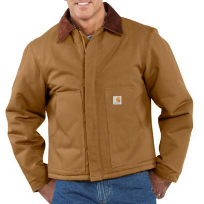 Men's Carhartt Duck Traditional Jacket #J002BRN (Big and Tall)
