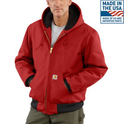 Men's Carhartt Duck Active Jacket #J140RED (Big and Tall)