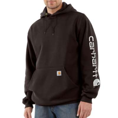Men's Carhartt Hooded Logo Sweatshirt #K288DKB (Big and Tall)