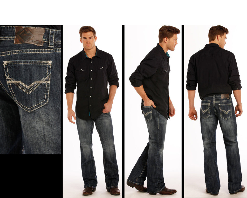 Men's Rock & Roll Cowboy Double Barrel Jean #M0D9475-C