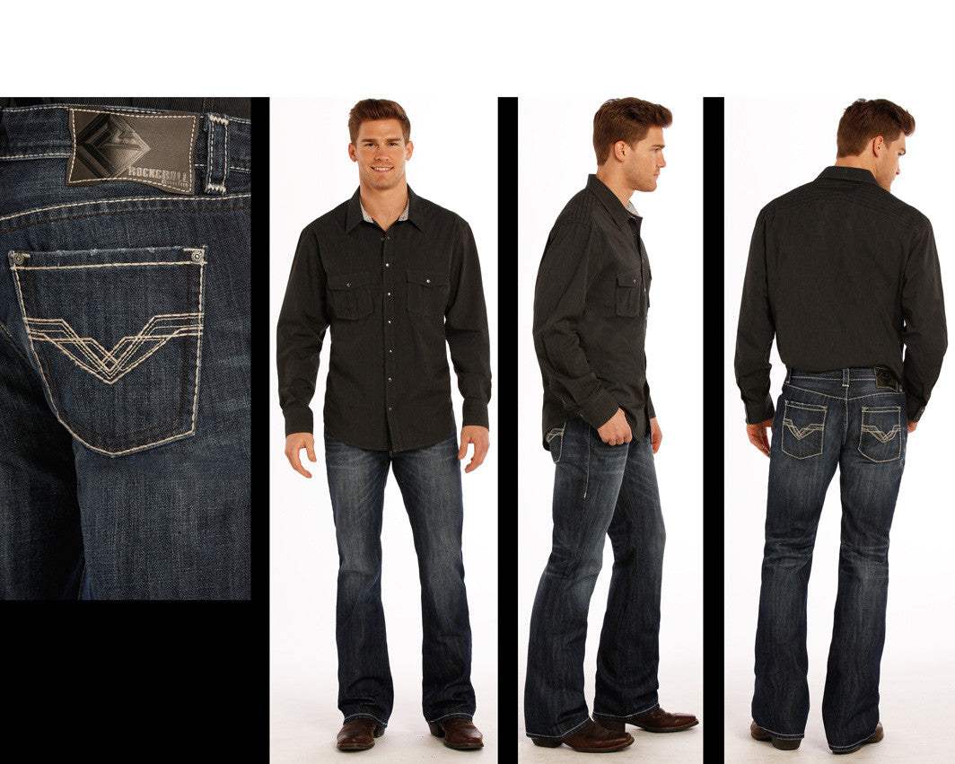 Men's Rock & Roll Cowboy Pistol Jean #M0P9488-C