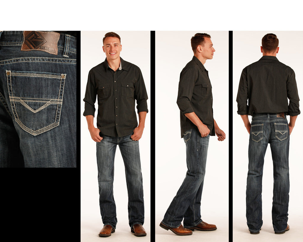 Men's Rock & Roll Cowboy Double Barrel Jean #M0S2404