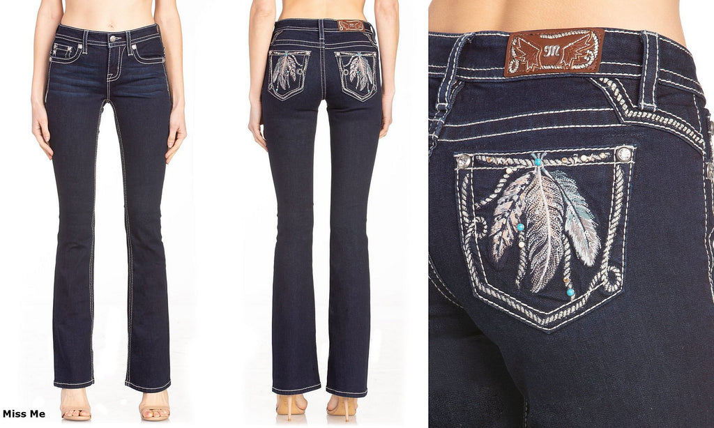 Women's Miss Me Light Movement Boot Cut Jean #M3624B