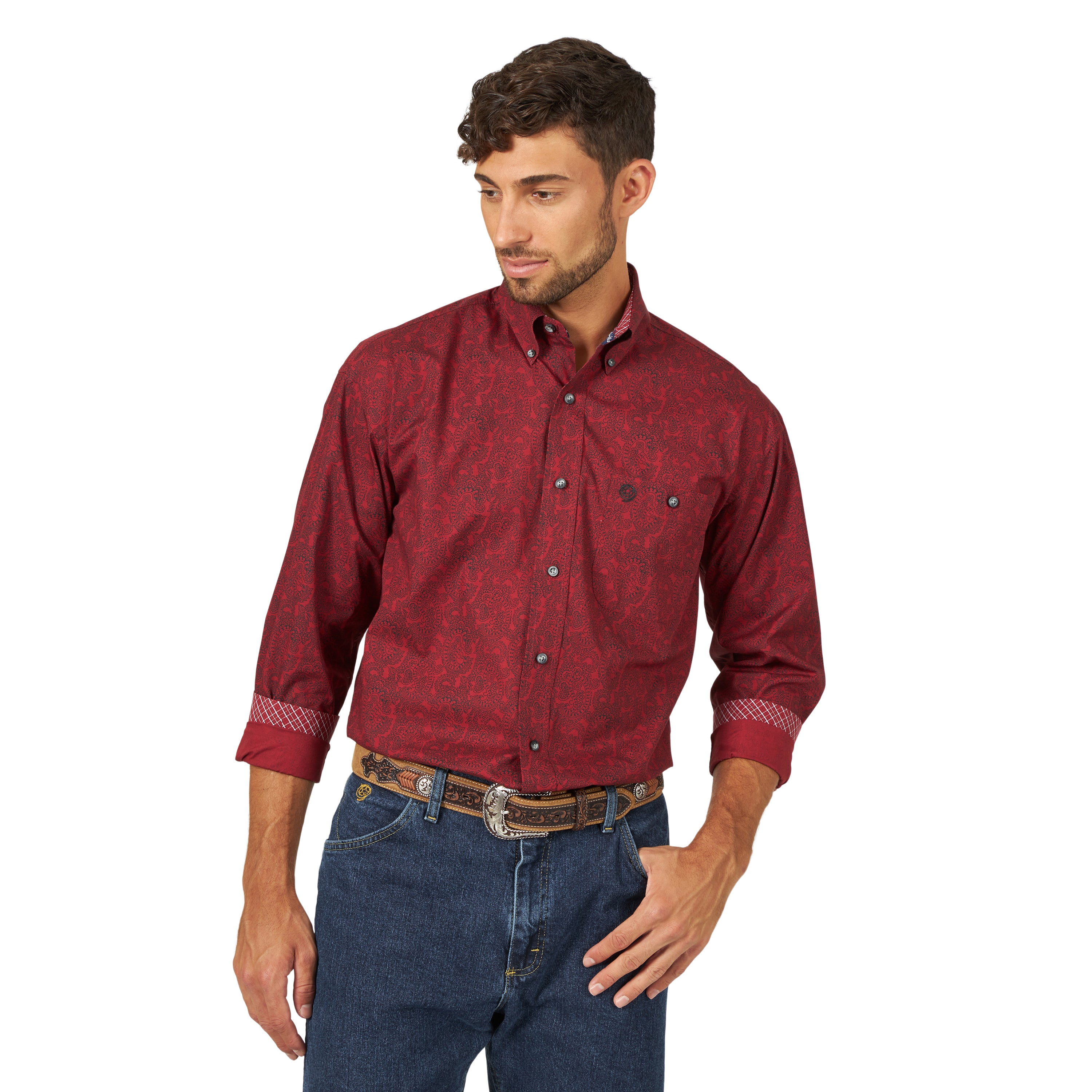 Men's Wrangler George Strait Button Down Shirt #MGSR721X (Big and Tall)