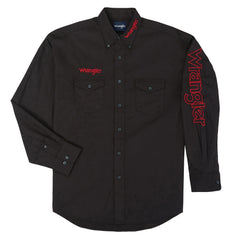 Men's Wrangler Logo Button Down Shirt #MP2338XX (Big and Tall)