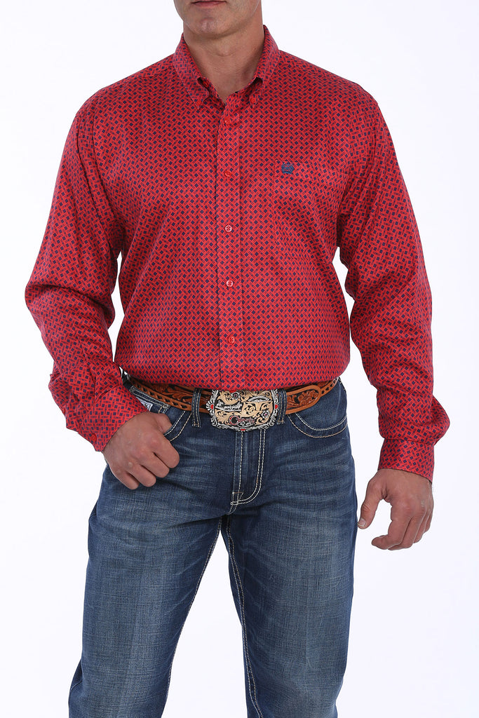 Men's Cinch Button Down Shirt #MTW1104887RED