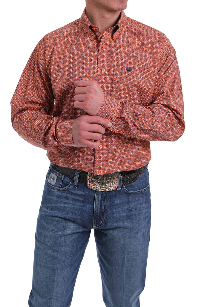 Men's Cinch Button Down Shirt #MTW1104965ORG