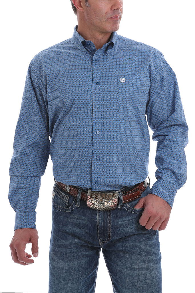 Men's Cinch Stretch Button Down Shirt #MTW1105097BLU