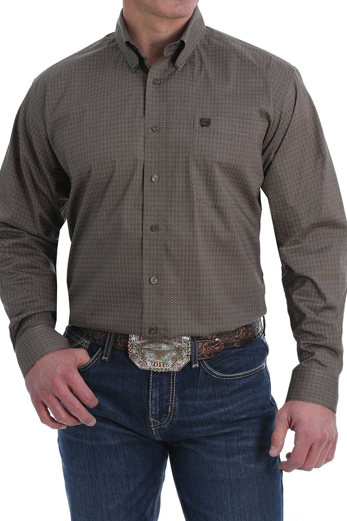 Men's Cinch Button Down Shirt #MTW1105167BRN