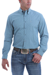 Men's Cinch Modern Fit Button Down Shirt #MTW1343125BLU