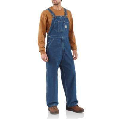 Men's Carhartt Unlined Denim Bib Overall #R07DST