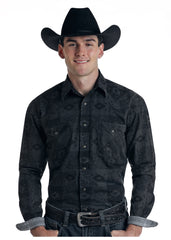 Men's Rough Stock Snap Front Shirt #R0S6386