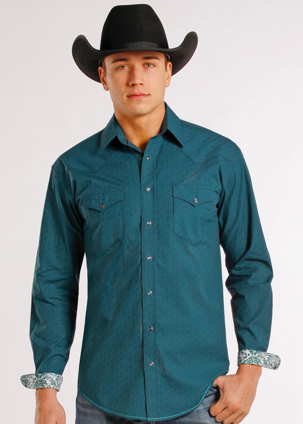 Men's Rough Stock Snap Front Shirt #R0S8028-C