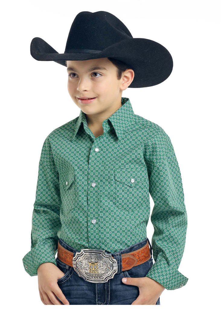 Boy's Rough Stock Snap Front Shirt #R2S3190