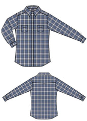 Boy's Rough Stock Snap Front Shirt #R2S8035-C