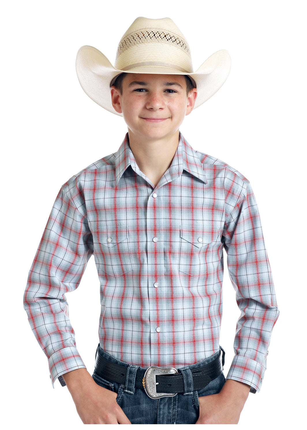 Boy's Rough Stock Snap Front Shirt #R2S9403-C