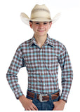Boy's Rough Stock Snap Front Shirt #R2S9415-C