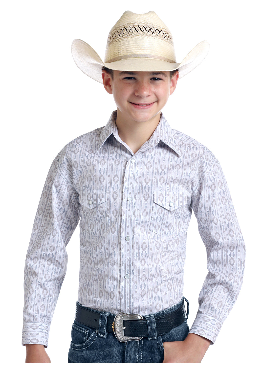 Boy's Rough Stock Snap Front Shirt #R2S9438-C