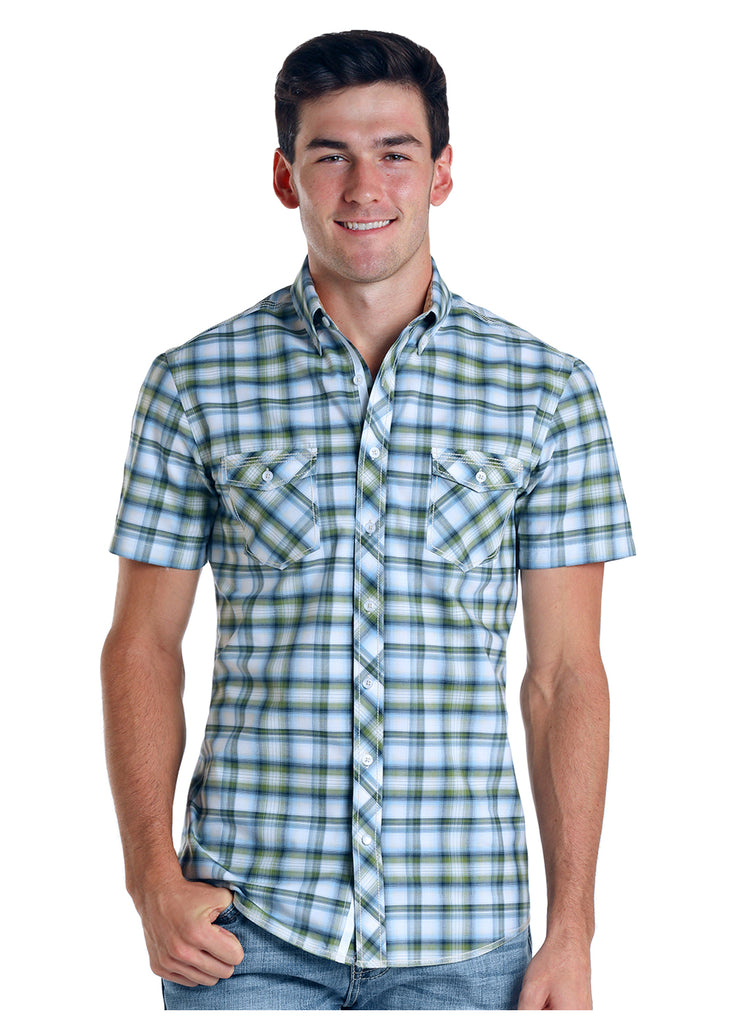 Men's Rough Stock Button Down Shirt #R9D5751