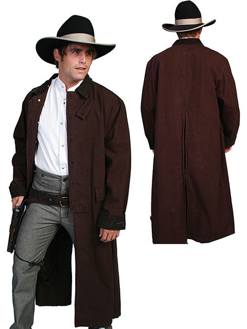 Men's Scully Canvas Duster #RW107WAL