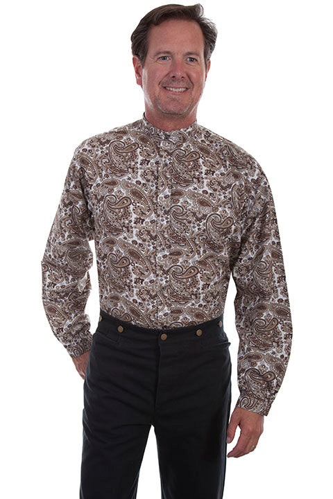 Men's Scully Button Down Shirt #RW290BRN