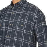 Men's Wrangler Rugged Wear Flannel Button Down Shirt #RWFL3GY