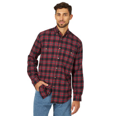 Men's and Rugged Wear Flannel Button Down Shirt #RWFL3RDX (Big and Tall)