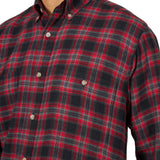 Men's Wrangler Rugged Wear Flannel Button Down Shirt #RWFL3RD