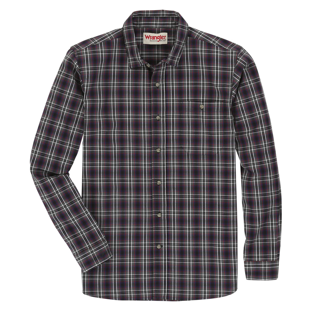 Men's Wrangler Rugged Button Down Work Shirt #RWPL3NY