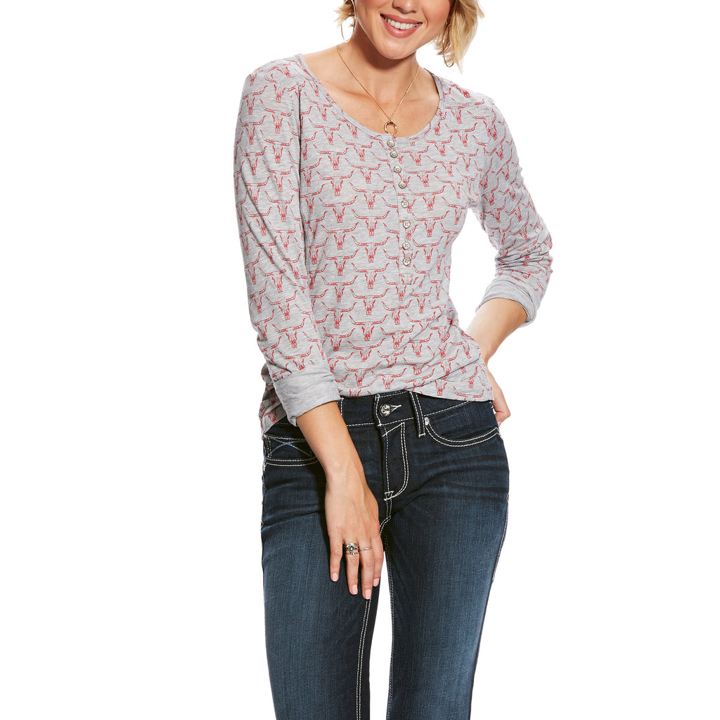 Women's Ariat R.E.A.L. Henley Shirt #10025462