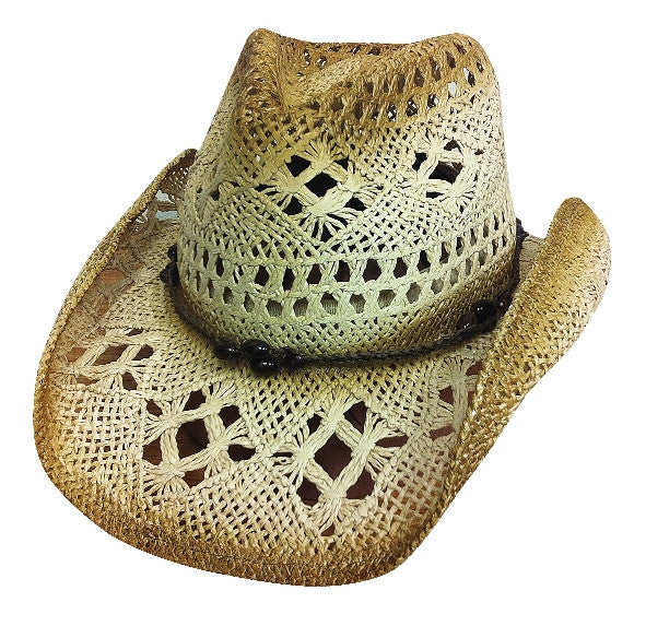 Bullhide Scorched Straw Hat #2355BR