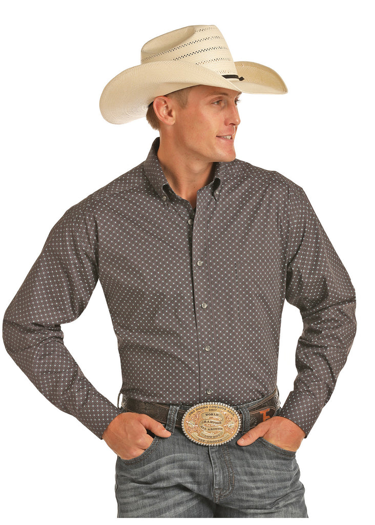 Men's Tuf Cooper Performance by Panhandle Button Down Shirt #TCD9534