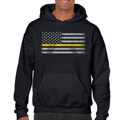 Men's Thin Gold Line Hoodie #MNS-H-CLASSIC-TGOLL-BLACK
