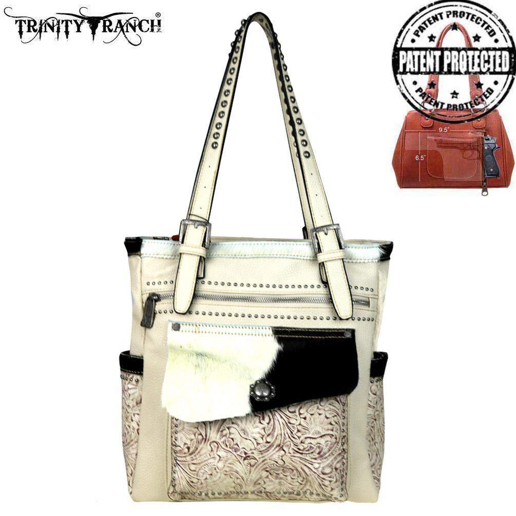 Women's Trinity Ranch Conceal Carry Tote #TR45G-8281BG