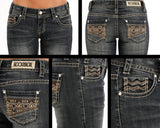 Women's Rock & Roll Cowgirl Low Rise Boot Cut Jean #W0-9605-C