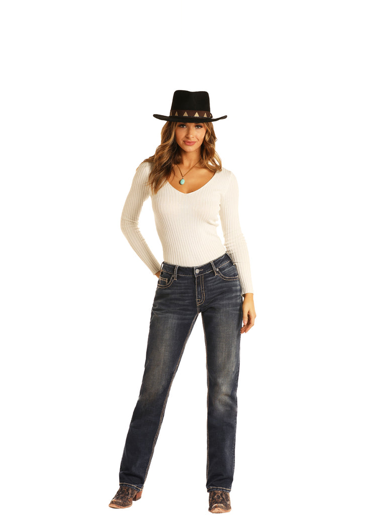 Women's Rock & Roll Cowgirl Boyfriend Fit Jean #W2-7537