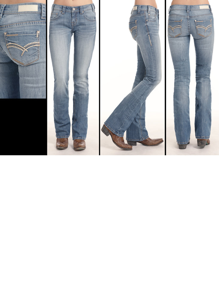 Women's Rock & Roll Cowgirl Rival Boot Cut Jean #W6-1004