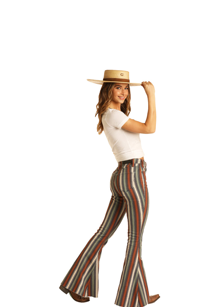 Women's Rock & Roll Cowgirl Bell Bottom Jeans #WHB8189