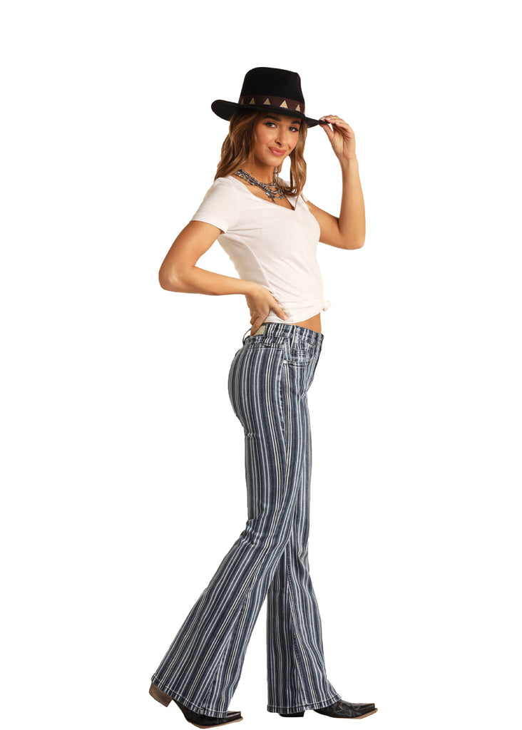 Women's Rock & Roll Cowgirl High Rise Flare Jean #WHN6108