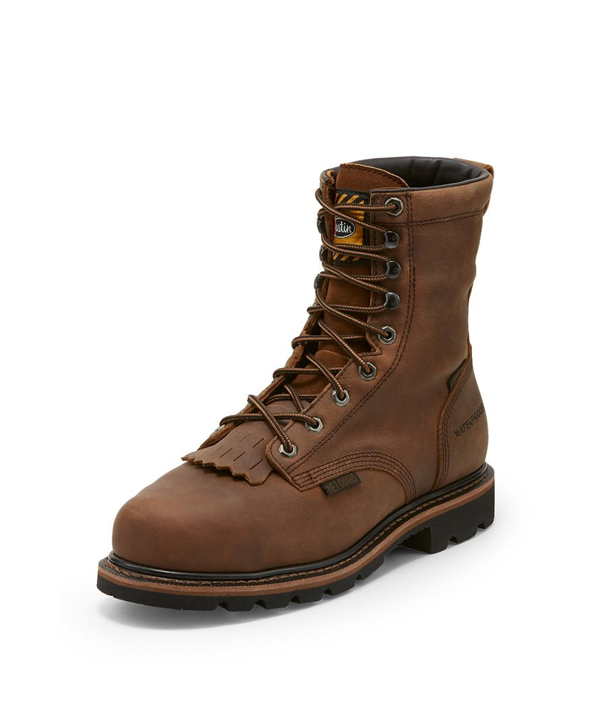 Men's Justin Waterproof Composite Toe Pulley Work Boot #WK630