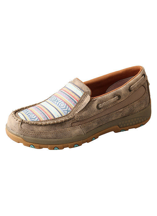 Women's Twisted X Boat Shoe Driving Moc with CellStretch #WXC0008