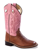 Youth's Old West Western Boot #BSY1839G (3.5Y-7Y)