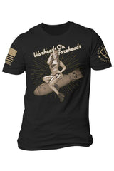 Men's Nine Line Warheads on Foreheads T-Shirt #E9-PINUP-TS-BLACK