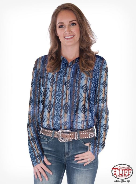 Women's Cowgirl Tuff Pullover Button Down #H00653-SPC