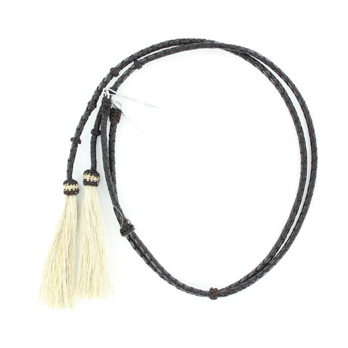 Braided Leather Stampede String with Pins #0296801